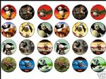24 Kung Fu Panda Rice Cake Toppers - 1.6'' Great size